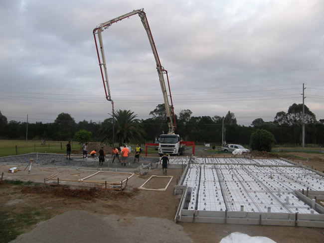 Pouring the Slab